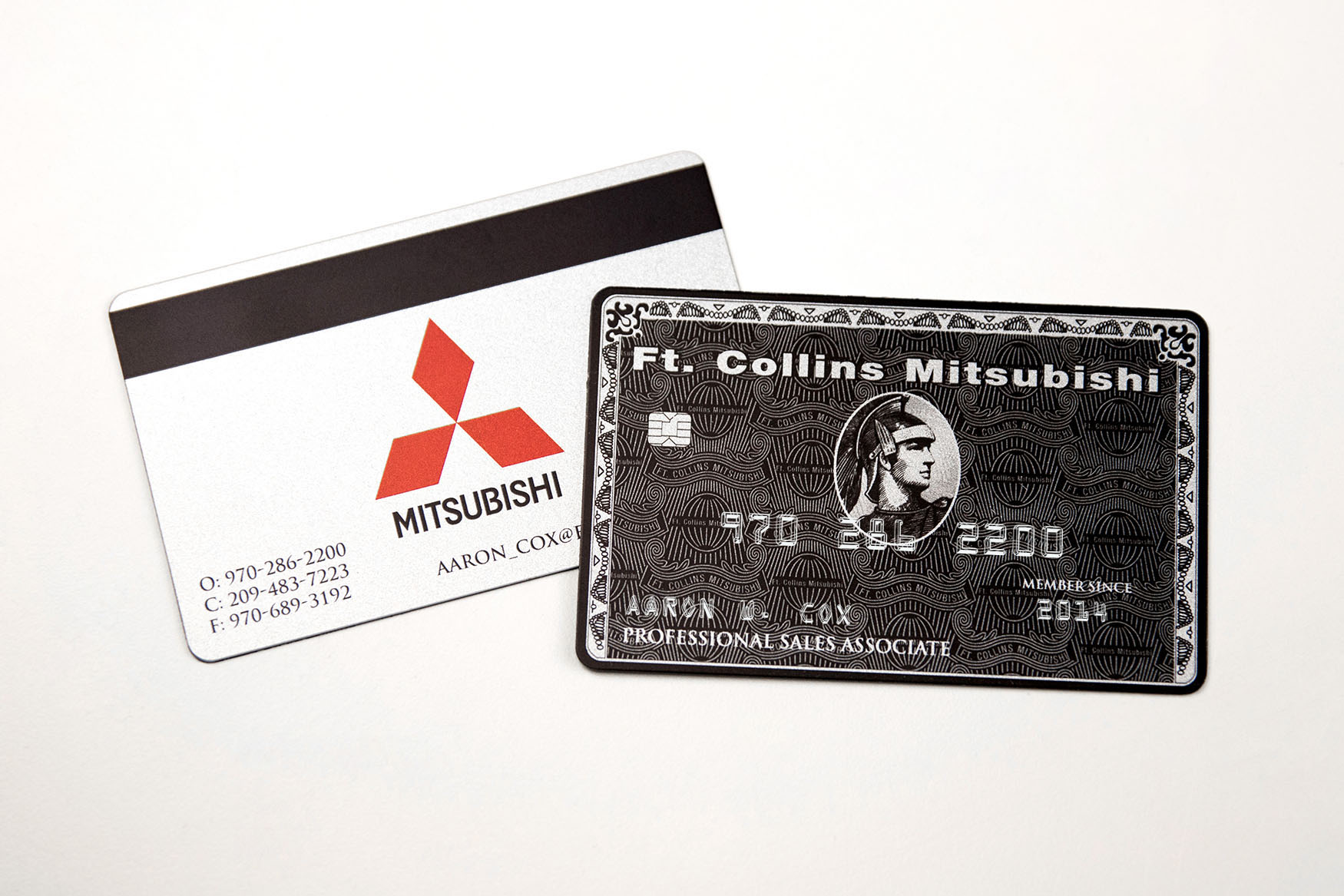 ft collins mitsubishi black faux credit card style