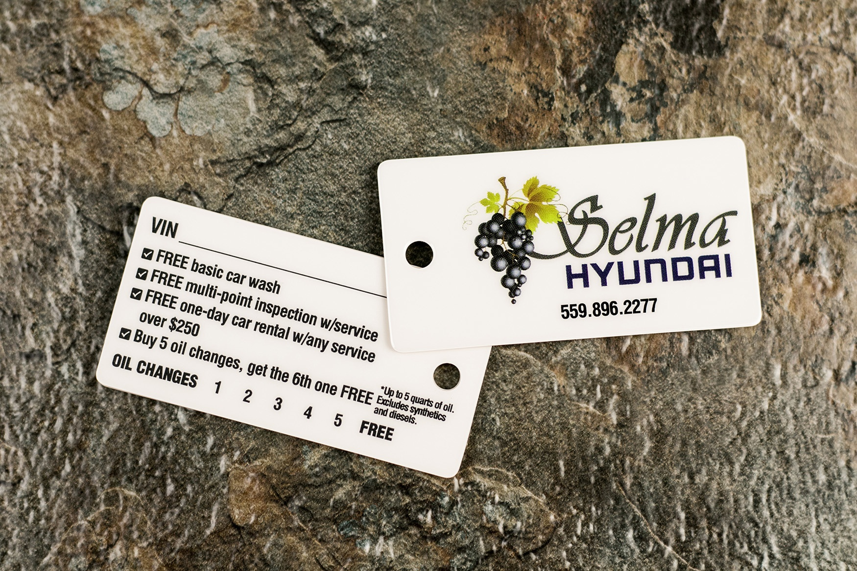 Selma Hyundai New Car Promotional Key Tags