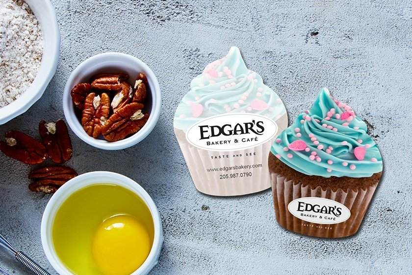 Cupcake Shaped Business Cards