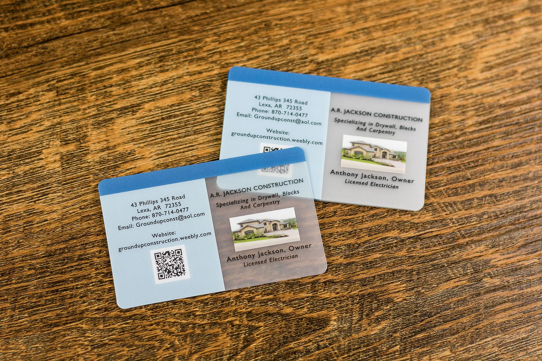 A.R. Jackson Construction Business Cards