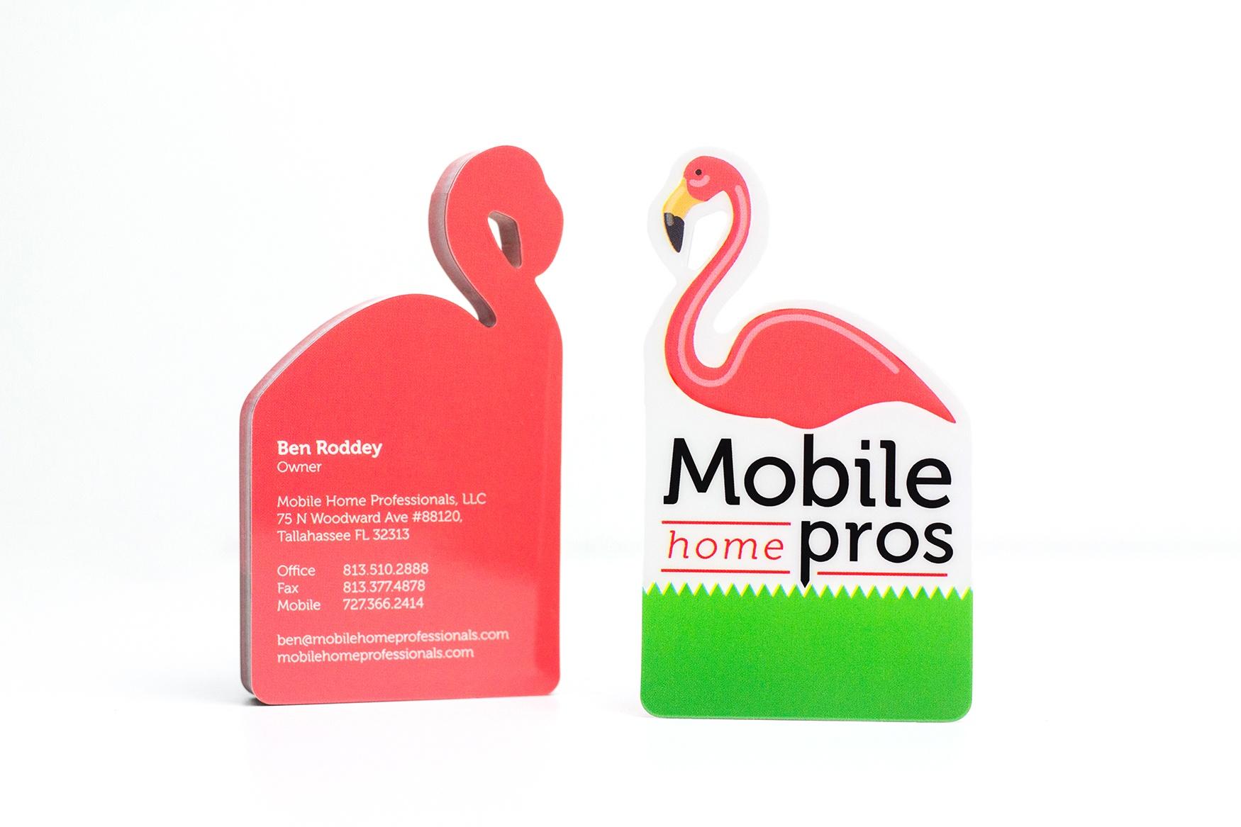 Mobile home professionals business card colourmoves
