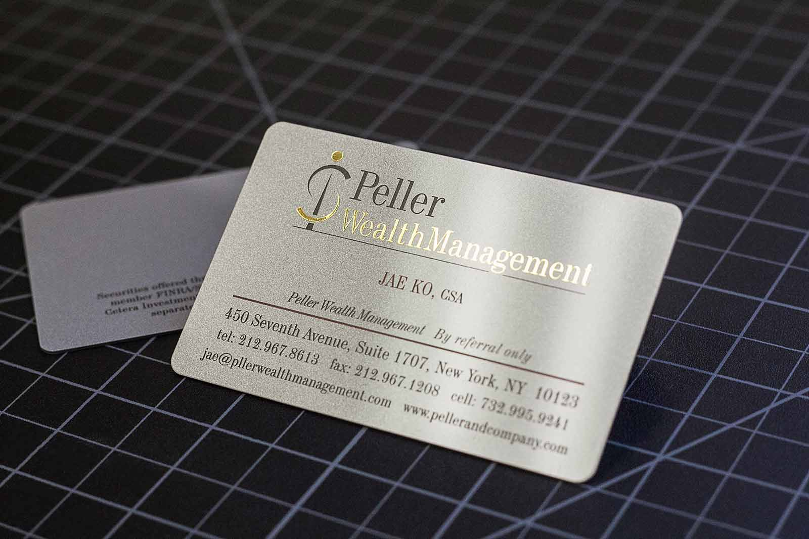 Peller Wealth Management Business Card