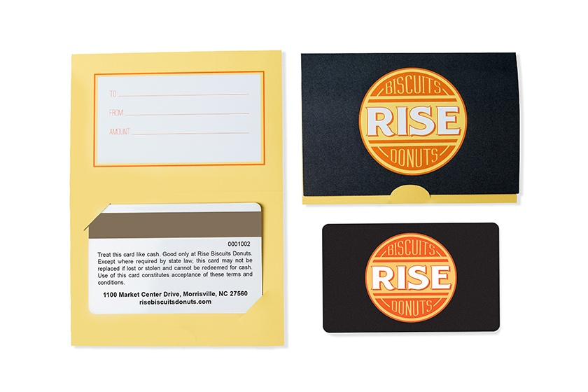 Rise Biscuits And Donuts Gift Card And Backers