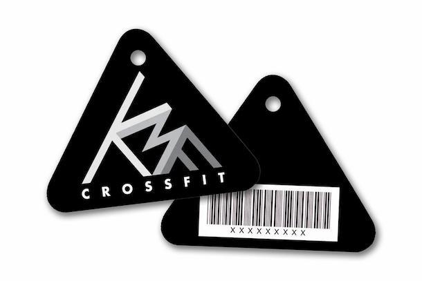 Plastic key tag for a gym