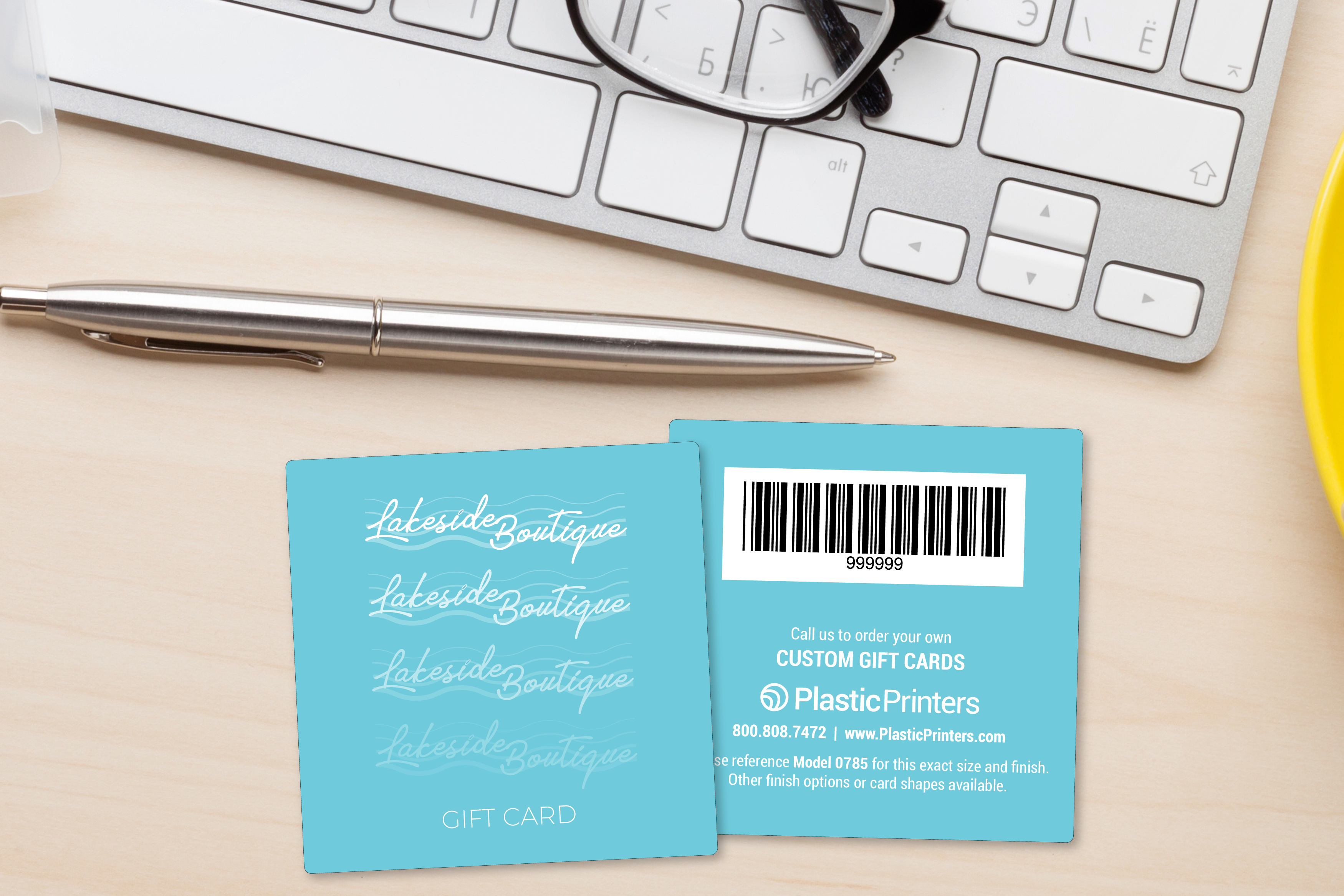 Square gift cards for a retail boutique