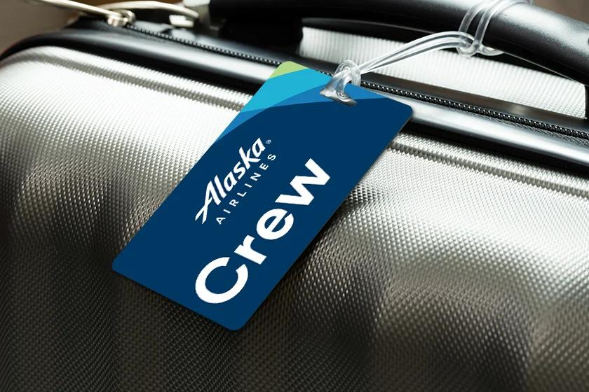 Personalized Airline Luggage Tag for Pilot and Crew