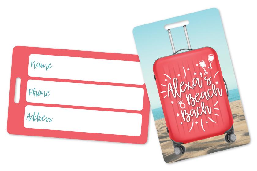 Plastic Travel Luggage Tag