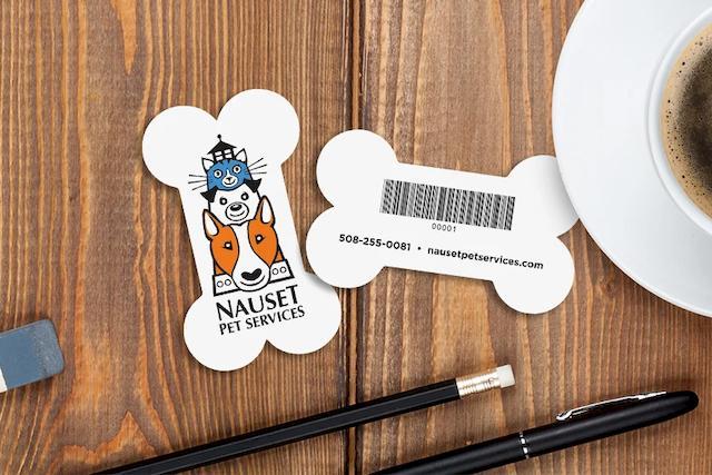 Custom Plastic Membership Cards in the Shape of a Dog Bone