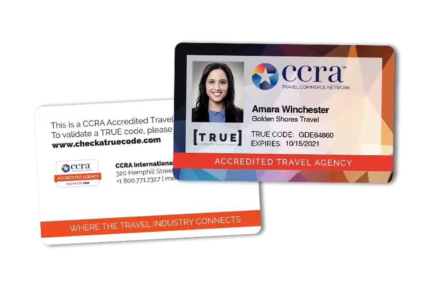 Employee ID Card for an Accredited Travel Agency