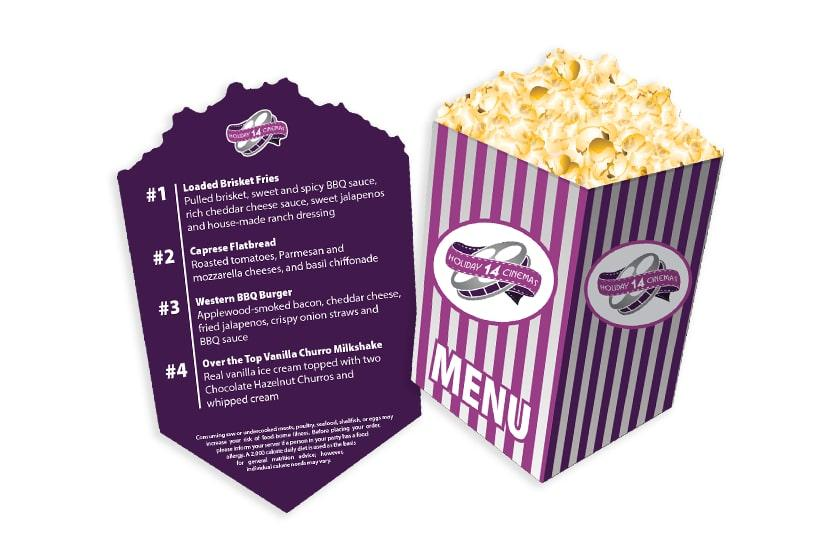 Waterproof Movie Theater Menu