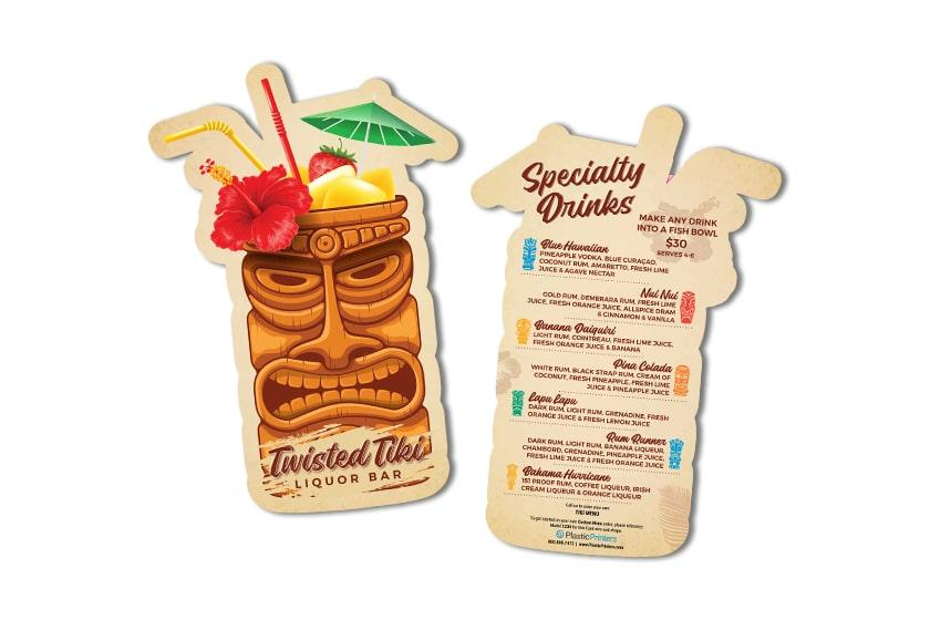 Tiki Bar Menu Printing