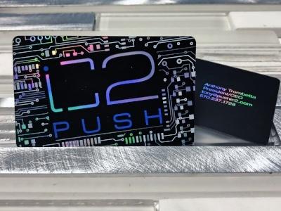 Platinum Business Card for C2 Push - Black Business Cards
