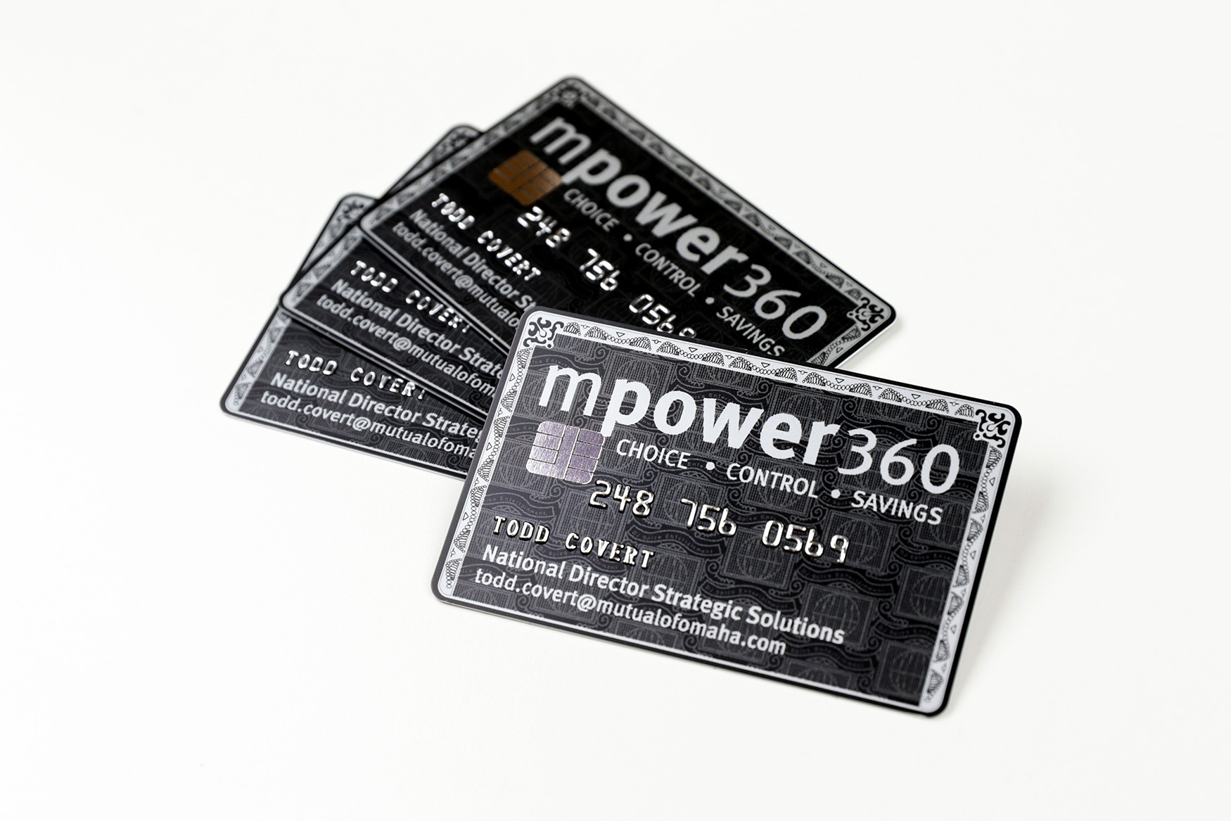 Mpower 360 Embossed Business Cards