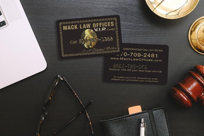 Embossed VIP Card Design