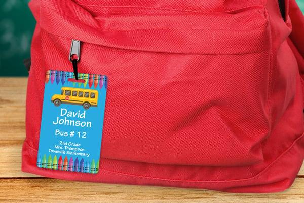 Bus tag for school children