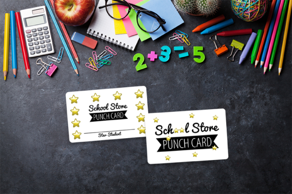 School store punch cards