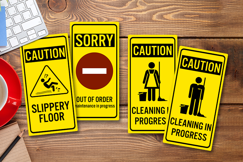 Caution signs can help your business