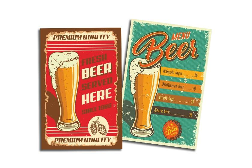 Brewery table tents