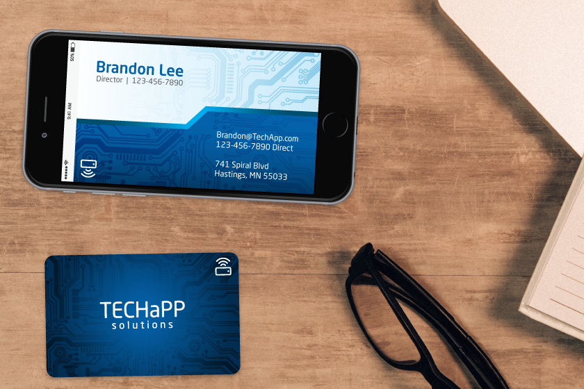 NFC business cards can transmit information straight to a smartphone