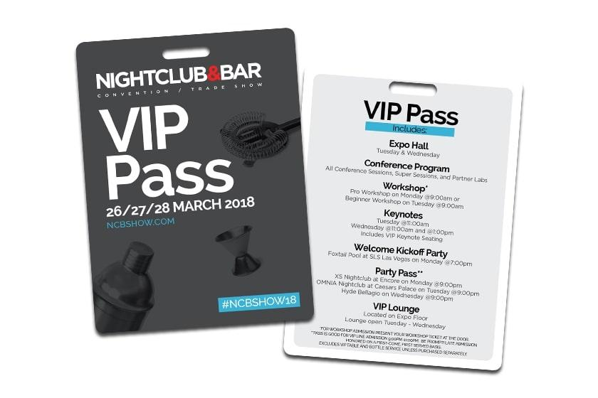 Nightclub and Bar Trade Show - Expo Hall, Conference Program, Workshop, Party Pass, and VIP Lounge