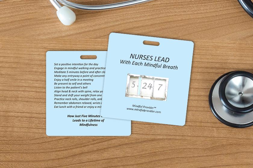 Business Card Key Tags for Nurses