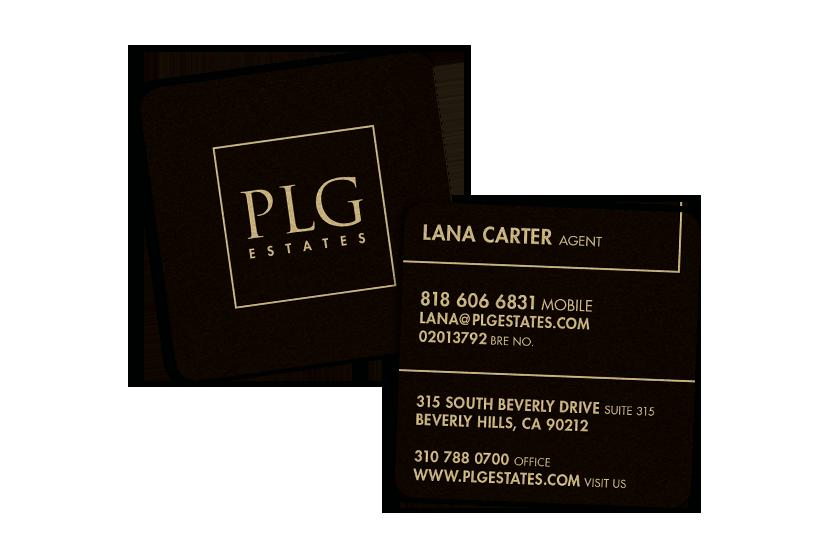 Real Estate Business Cards for PLG Estates