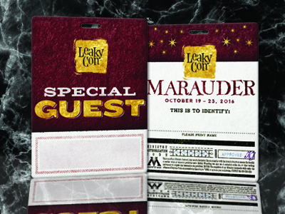 Special Guest Pass for Leaky Con - Writable Surface with Luggage Slot for Lanyard