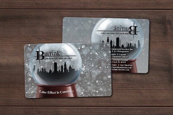 Clear Business Cards for Burrink Commercial Services