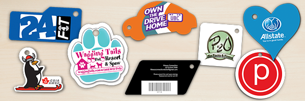 Die Cut Key Tags in Every Shape and Size Imaginable!