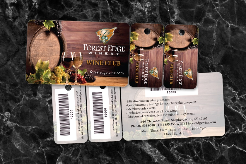 Grocery Store Combo Card and Key Tag Membership Cards