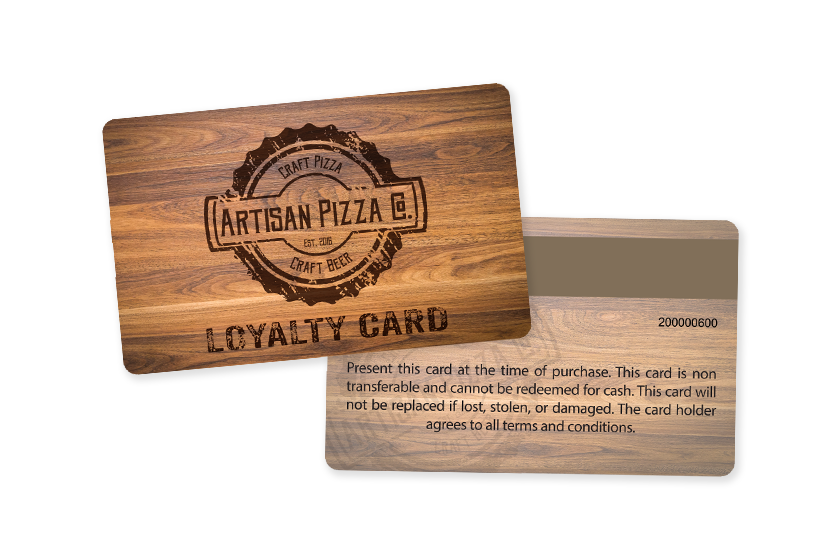 Pizza Loyalty Cards for Artisan Pizza