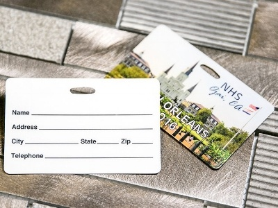 Travel Luggage Tags with Writable Surface