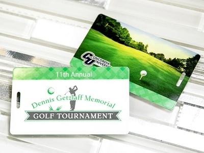 Dennis Getzlaff Memorial Golf Tournament Custom Printed Golf Bag Tag for Concordia University St. Paul