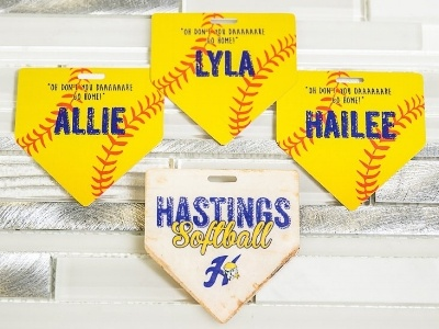 Personalized Hastings Softball Sports Bag Tags