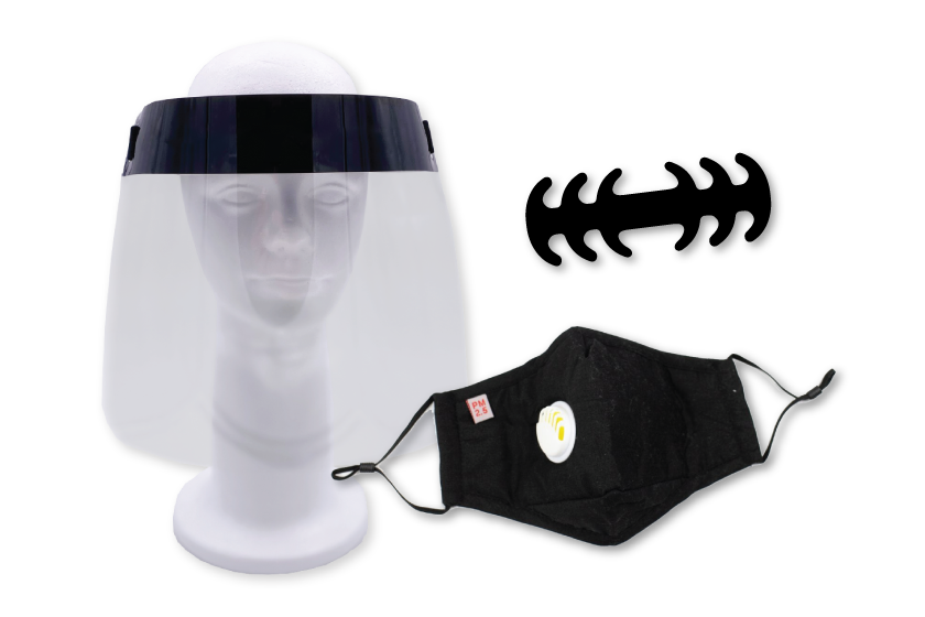 PPE & safety kits with a face shield and more