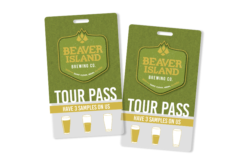 Beaver Island Brewing Tour Pass with Punch Card Sample Beer Section