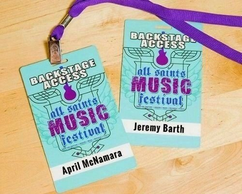 Personalized Backstage Passes to All Saints Music Festival