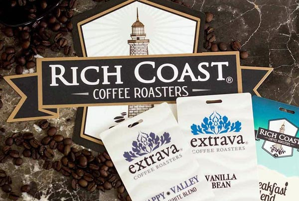 Example of Custom Indoor Signage for Rich Coast Coffee Roasters