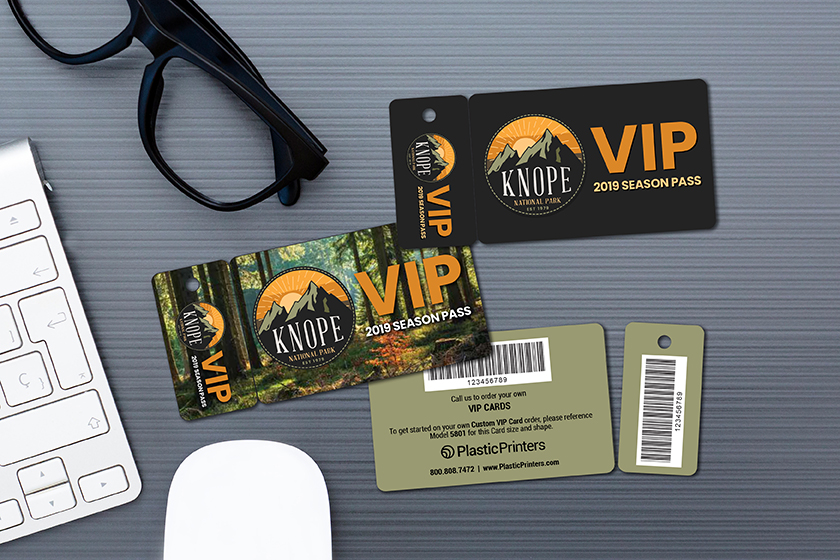 Custom VIP Cards - combo card with barcode for a park