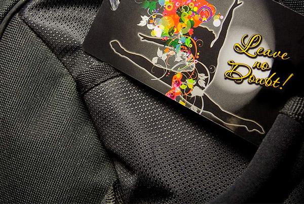 Example of Dance Team Custom Printed Plastic Equipment Bag Tag Label by PlasticPrinters.com