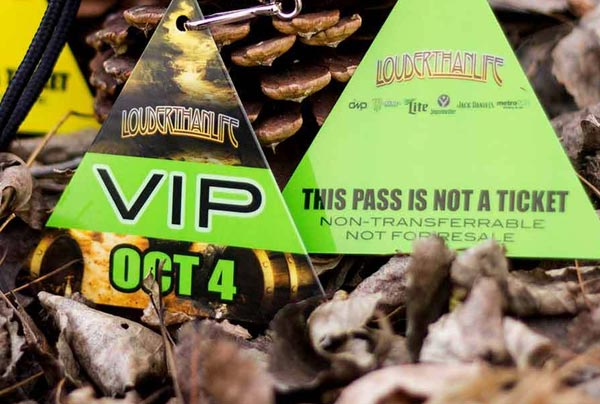 Example of Custom Triangle Shaped VIP Passes by PlasticPrinters.com