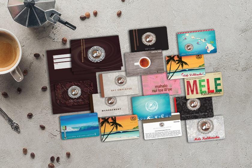 Custom gift cards made of plastic