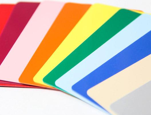 Plastic Card color palet