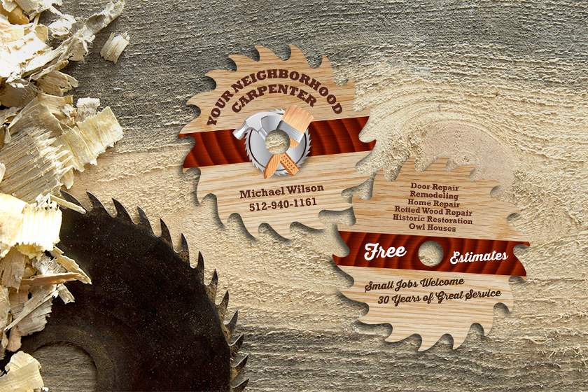 Business-Card-Die-Cut-Saw-Blade-Michael-Wilson-Carpentry-KT7169-HS117696-Sample