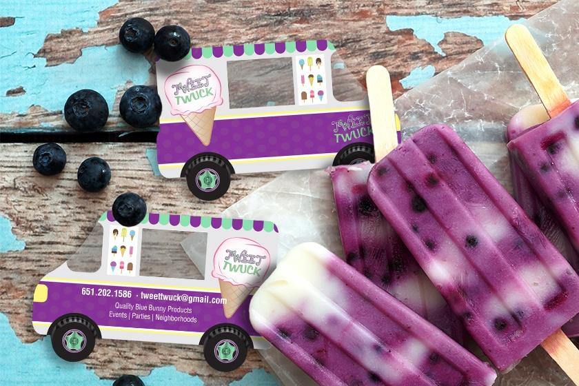 Business-Card-Clear-Custom-Shape-Ice-Cream-Truck-Tweet-Twuck-KT2452-SG089886-Sample