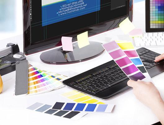 Designer Creating Custom Menu Card