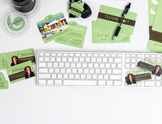 Example of corporate cards and coporate marketing materials