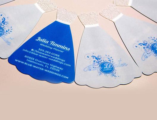 Fancy shaped custom die cut cards