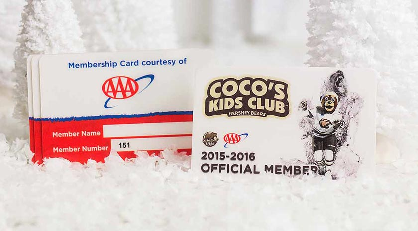 Example of Custom Membership Card from AAA