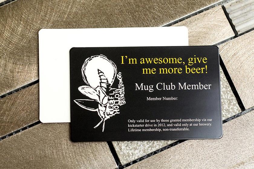 Membership Card Firefly Hollow Brewing Company Mug Club.